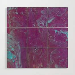 Purple haze #2 Abstract Canvas acrylic and ink Art Wood Wall Art