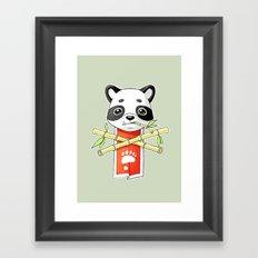 Panda Banner Framed Art Print