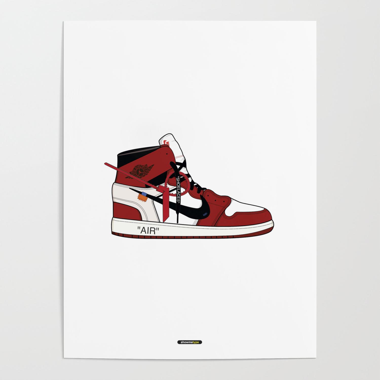 off white jordan 1 poster