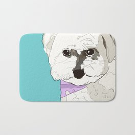 Cute poodle Bath Mat