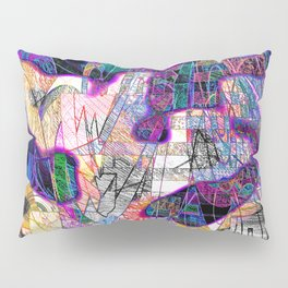 Heavily Overdrawn Pillow Sham