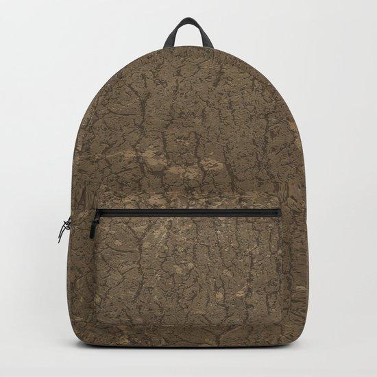 Rustic Tree Bark Pattern Backpack