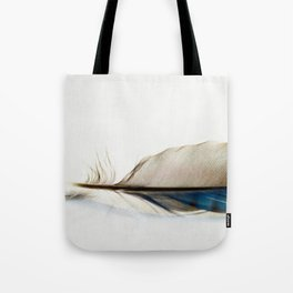Blue Jay Feather Tote Bag