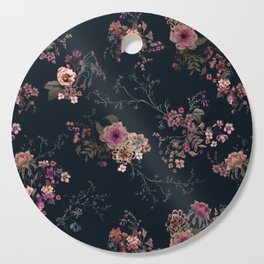 Japanese Boho Floral Cutting Board