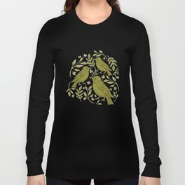 Little Wrens Hiding In The Hedgerow Long Sleeve T-shirt