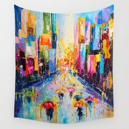 RAINING IN THE CITY Wall Tapestry