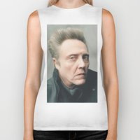 christopher walken Biker Tanks featuring Walken by AXLWD