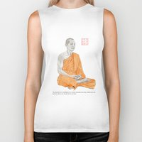 buddha Biker Tanks featuring Buddha by Bryan James