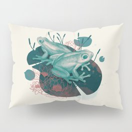 Frogs in water lilies Pillow Sham