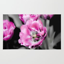 Soft Pink and White Tulips Rug