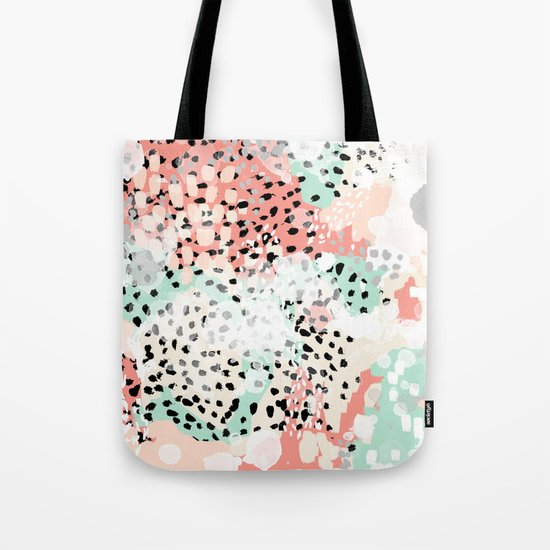 Breah - abstract painting pastel colors nursery baby gender neutral hipster Tote Bag