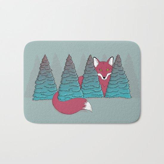 Spruce Fox Bath Mat
