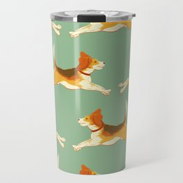 Beagle Pattern Travel Mug