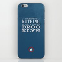 steve rogers iPhone & iPod Skins featuring Steve Rogers by Bonnie Detwiller