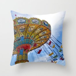 Flying Swings  Carnival Photography Throw Pillow