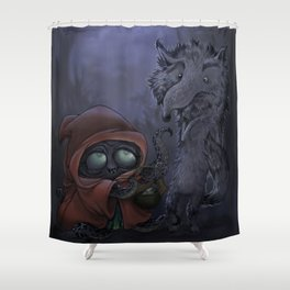 Bad Wolf meets Little Red Shower Curtain