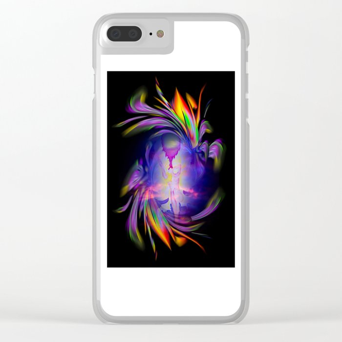 Heavenly apparition 4 Clear iPhone Case