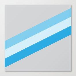 tri-blue stripes Canvas Print