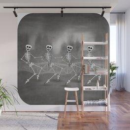 Dancing skeletons II Wall Mural