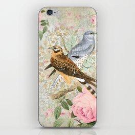 Vintage birds iPhone Skin