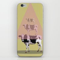 cows iPhone & iPod Skins featuring Cows attraction by AmDuf