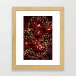 Bejewelled Crimson Framed Art Print