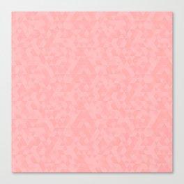 Pastel Millennial Pink Geometric Pattern Canvas Print