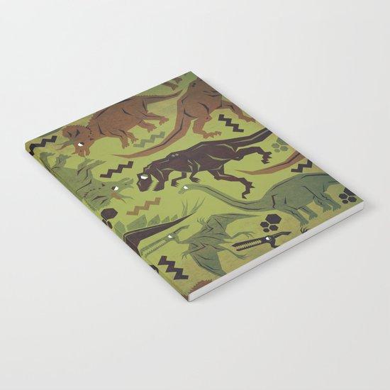 Camouflage Dinosaur Geometric Pattern Notebook