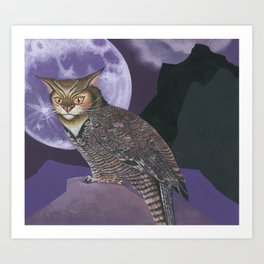 The Great Horned...What? Art Print