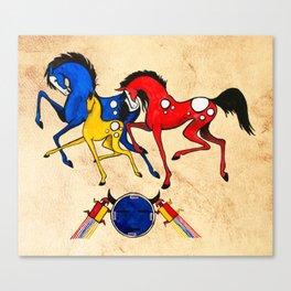 Navajo Horse Family Canvas Print
