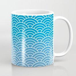 Seigaiha Gradient Blue Coffee Mug