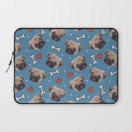 Pug love pattern Laptop Sleeve