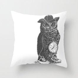 Owl Skool Throw Pillow