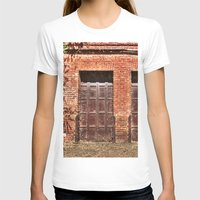 doors T-shirts featuring Barn Doors by Agrofilms
