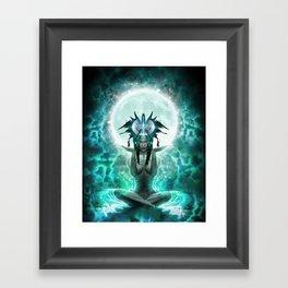 Selene - Moon Goddess - Visionary Art - Manafold Art Framed Art Print