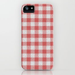 Indian Red Buffalo Plaid iPhone Case