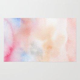 Abstract Watercolor. Pink dawn Rug