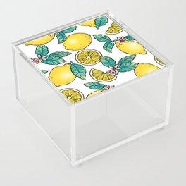 Digital Lemon Pattern Acrylic Box