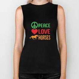 Peace Love Horses Biker Tank