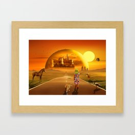 On the way to the fairyland Framed Art Print