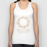 aperture Tank Tops featuring Aperture Science by IS0metric