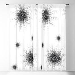 Minimalist black geometric lines mandala star Blackout Curtain