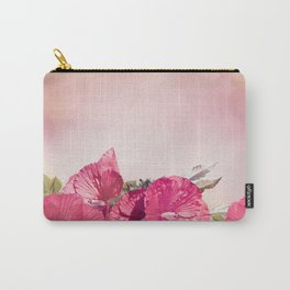 Blossom of Red Hibiscus Flowers Carry-All Pouch