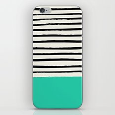 Mint x Stripes iPhone Skin