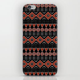 Mudcloth Style 2 in Black and Red iPhone Skin