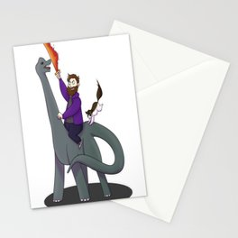 Dino Rider Diction Stationery Cards