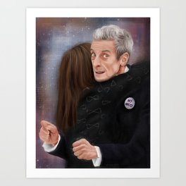 12th Doctor - Not a hugging person Art Print