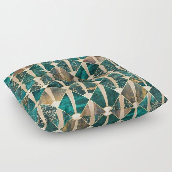 Art Deco Tiles - Ocean Floor Pillow