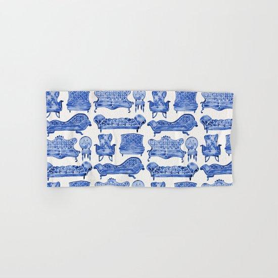 Victorian Lounge – Navy Palette Hand & Bath Towel