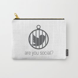 Are You Social? Carry-All Pouch